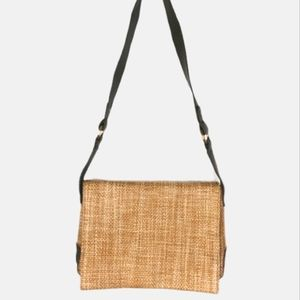 Hush Puppies woven straw bag